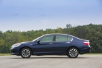 2014 Honda Accord Hybrid Sedan Touring in Obsidian Blue Pearl - Static Left Side View