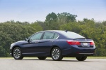 2014 Honda Accord Hybrid Sedan Touring in Obsidian Blue Pearl - Static Rear Left Three-quarter View