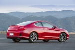 2015 Honda Accord Coupe EX-L V6 in San Marino Red - Static Rear Right Three-quarter View
