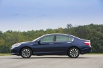 2015 Honda Accord Hybrid Sedan Touring in Obsidian Blue Pearl - Static Left Side View