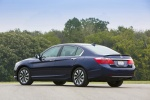 2015 Honda Accord Hybrid Sedan Touring in Obsidian Blue Pearl - Static Rear Left Three-quarter View