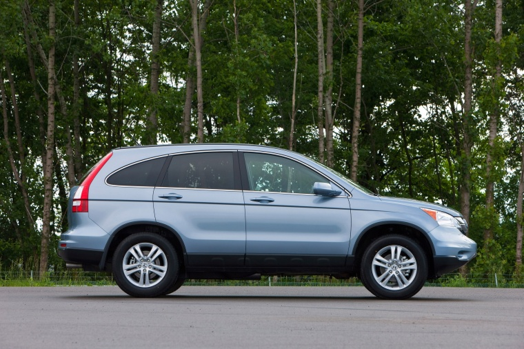 2010 Honda Cr V Ex L In Glacier Blue Metallic Color Static Right Side View Picture Image