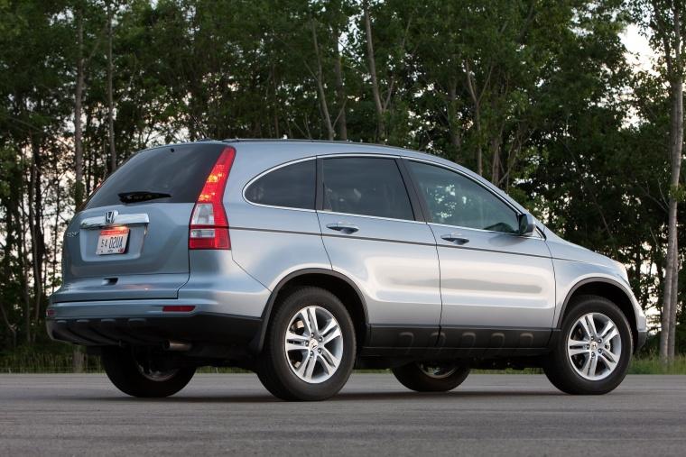 Great 2011 Honda CR V EX L In Glacier Blue Metallic From A Rear Right