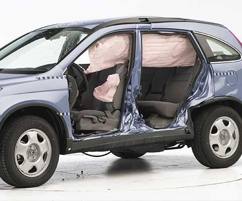 2011 honda cr v lx se ex l awd crv iihs side impact for Honda crv crash test