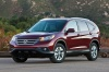 2012 Honda CR-V EX-L AWD in Basque Red Pearl II from a front left view