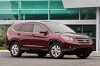 2012 Honda CR-V EX-L AWD in Basque Red Pearl II from a front right three-quarter view