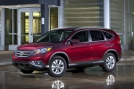2012 Honda CR-V EX-L AWD in Basque Red Pearl II - Static Front Left Three-quarter View