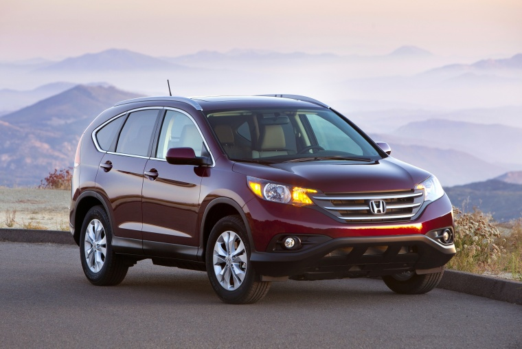 2013 honda cr v ex l awd in basque red pearl ii color static front right view picture image. Black Bedroom Furniture Sets. Home Design Ideas