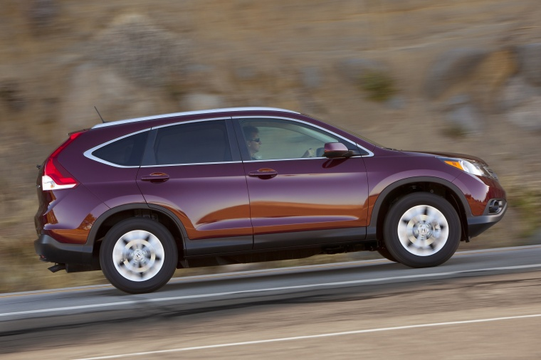 2013 Honda CR-V EX-L AWD in Basque Red Pearl II Color - Driving - Side