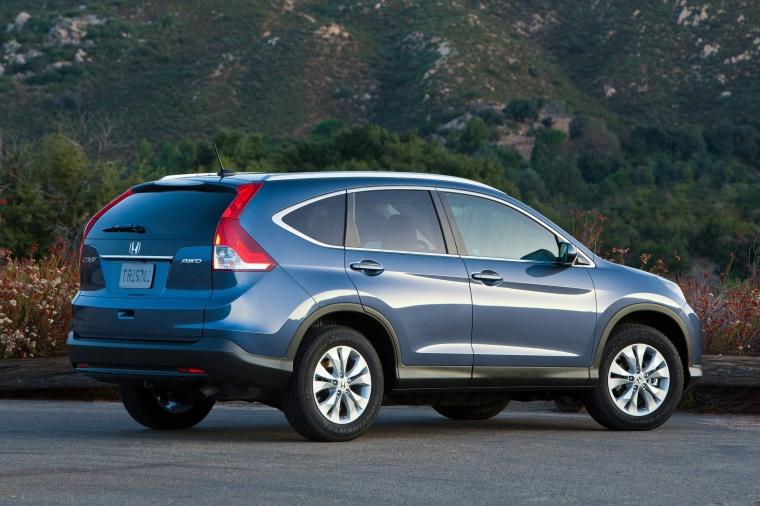2013 Honda Cr V Ex L Awd In Twilight Blue Metallic Color Static Rear Right Three Quarter