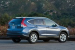 Picture of a 2014 Honda CR-V EX-L AWD in Twilight Blue Metallic from a rear right three-quarter perspective