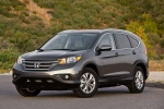 Picture of a 2014 Honda CR-V EX-L AWD in Urban Titanium Metallic from a front left perspective