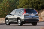 Picture of a 2014 Honda CR-V EX-L AWD in Urban Titanium Metallic from a rear left perspective