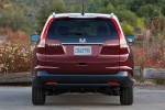 Picture of a 2014 Honda CR-V EX-L AWD in Basque Red Pearl II from a rear perspective