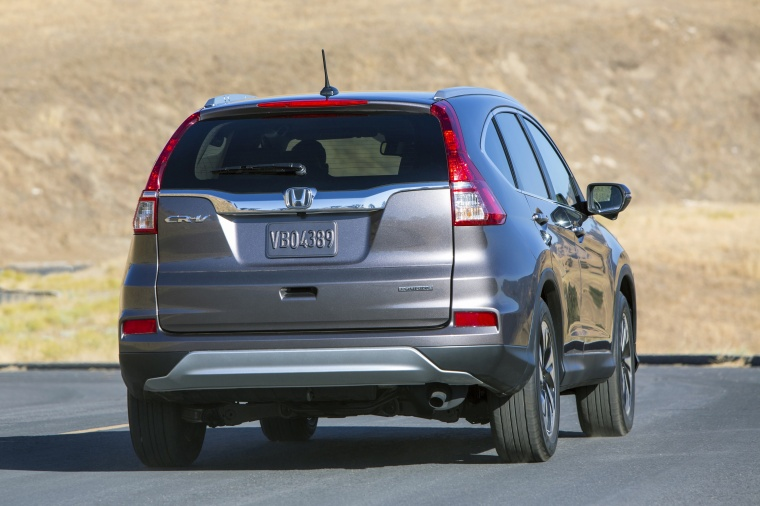 2016 honda cr v touring in modern steel metallic color driving rear right view picture image. Black Bedroom Furniture Sets. Home Design Ideas