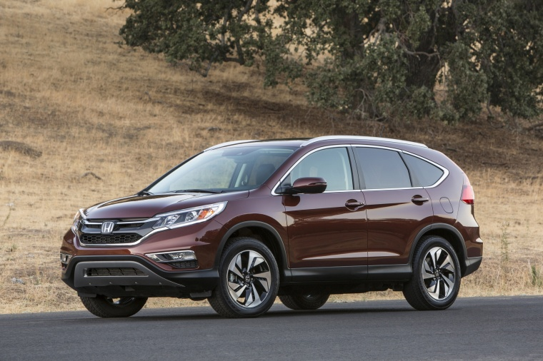 2016 Honda Cr V Touring Awd In Basque Red Pearl Ii From A Front Left