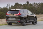Picture of a 2017 Honda CR-V Touring AWD in Crystal Black Pearl from a rear right perspective