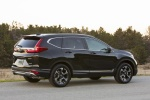 Picture of a 2017 Honda CR-V Touring AWD in Crystal Black Pearl from a rear right three-quarter perspective