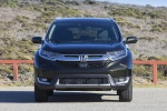 Picture of a 2017 Honda CR-V Touring AWD in Crystal Black Pearl from a frontal perspective