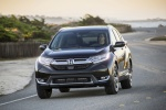 2018 Honda CR-V Touring AWD in Crystal Black Pearl - Driving Front Left View