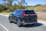 2018 Honda CR-V Touring AWD in Crystal Black Pearl - Driving Rear Left View
