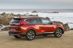 Picture of a 2019 Honda CR-V Touring AWD in Molten Lava Pearl from a rear right three-quarter perspective