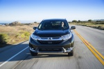 2019 Honda CR-V Touring AWD in Crystal Black Pearl - Driving Frontal View