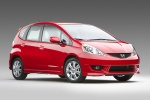 2010 Honda Fit Sport in Milano Red - Static Front Right Three-quarter View