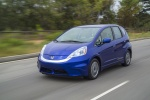 2013 Honda Fit EV in Reflection Blue Pearl - Driving Front Left Three-quarter View