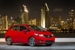 2015 Honda Fit in Milano Red - Static Front Right Three-quarter View