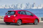 2015 Honda Fit in Milano Red - Static Rear Right Three-quarter View