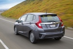2017 Honda Fit in Modern Steel Metallic - Driving Rear Left View