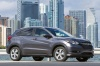 2017 Honda HR-V AWD in Modern Steel Metallic from a front right three-quarter view