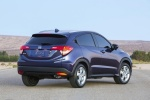 2017 Honda HR-V in Deep Ocean Pearl - Static Rear Right Three-quarter View