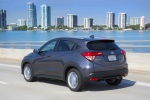 2017 Honda HR-V AWD in Modern Steel Metallic - Driving Rear Left Three-quarter View