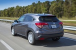 2017 Honda HR-V AWD in Modern Steel Metallic - Driving Rear Left View