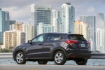2017 Honda HR-V in Mulberry Metallic - Static Rear Left Three-quarter View