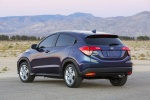 2017 Honda HR-V in Deep Ocean Pearl - Static Rear Left Three-quarter View