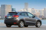 Picture of a 2018 Honda HR-V AWD in Modern Steel Metallic from a rear right three-quarter perspective