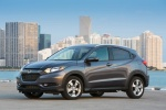Picture of a 2018 Honda HR-V AWD in Modern Steel Metallic from a front left three-quarter perspective