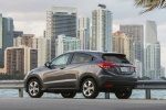 Picture of a 2018 Honda HR-V AWD in Modern Steel Metallic from a rear left three-quarter perspective