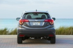 Picture of a 2018 Honda HR-V AWD in Modern Steel Metallic from a rear perspective