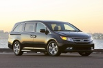 2011 Honda Odyssey Touring in Crystal Black Pearl - Static Front Right Three-quarter View
