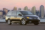 2013 Honda Odyssey Touring in Crystal Black Pearl - Static Front Right View