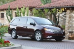 2013 Honda Odyssey Touring in Dark Cherry Pearl - Static Front Right Three-quarter View