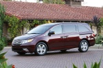 2013 Honda Odyssey Touring in Dark Cherry Pearl - Static Front Left Three-quarter View