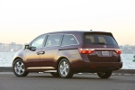 2013 Honda Odyssey Touring in Dark Cherry Pearl - Static Rear Left Three-quarter View