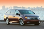2013 Honda Odyssey Touring in Dark Cherry Pearl - Static Front Right View