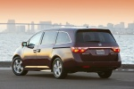 2013 Honda Odyssey Touring in Dark Cherry Pearl - Static Rear Left View