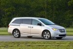 2013 Honda Odyssey Touring in Alabaster Silver Metallic - Static Front Right Three-quarter View